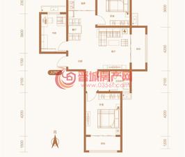 紫东国际5#楼E户型