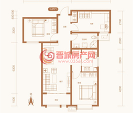 紫东国际5#楼D户型