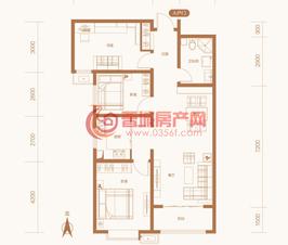 紫东国际5#楼B户型
