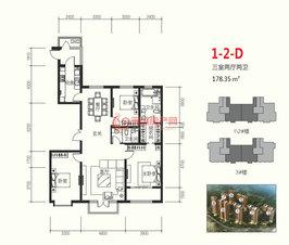 万博manbetx官网登录龙湾1-2-D178.35㎡户型