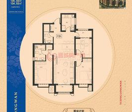 万博manbetx官网登录龙湾7#楼134.53㎡户型
