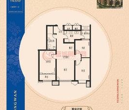 万博manbetx官网登录龙湾5#楼119.57㎡户型