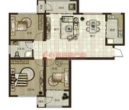 鼎秀华城二期三室两厅一卫建筑面积约120.78平米和126.03平米户型