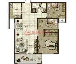 鼎秀华城二期三室两厅一卫面积约110.13平米和106.98平米户型图02