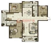 鼎秀華城二期三室兩廳兩衛建筑面積約185.43平米和143.82平米戶型04
