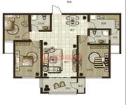 鼎秀華城二期三室兩廳兩衛建筑面積約120.38平米和119.55平米戶型