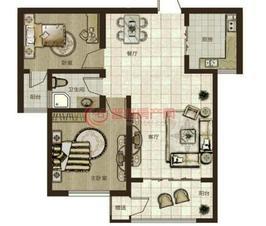 鼎秀华城二期两室两厅一卫建筑面积约87.01平米和88.84平米户型