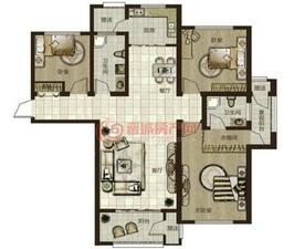 鼎秀华城二期三室两厅两卫建筑面积约139.97平米和138.07平米户型