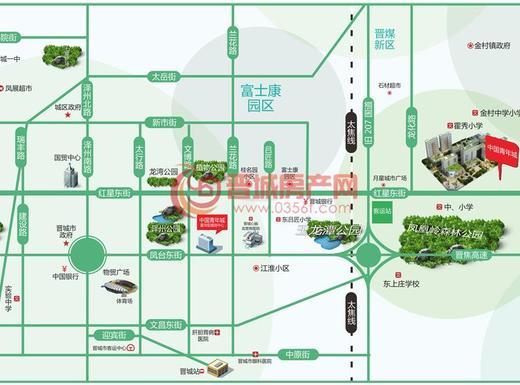 中国青年城交通图