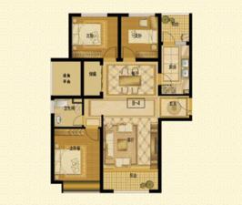 星湖湾B—4住宅8#—户型