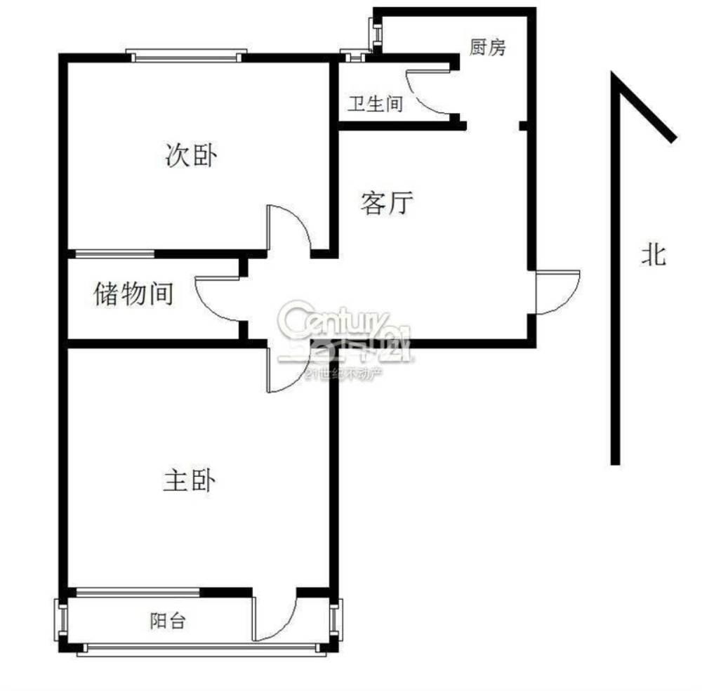 鳳鳴小區2室1廳1衛60平米住宅出租