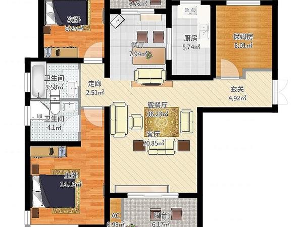 金鼎路经济工业园区大产权 龙度华府三室两厅两卫 潜力巨大