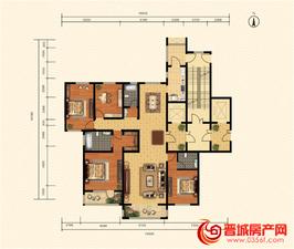 皇城新区9、10号楼四室两厅三卫一厨建面239㎡