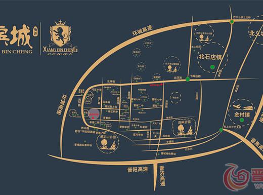 峰景香滨城交通图
