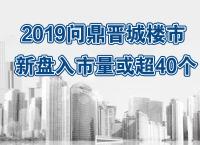 2019年晋城楼市新盘房源入市预测