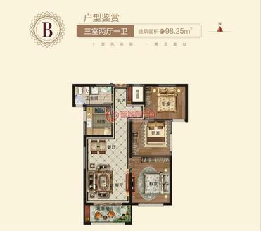 锦天玉龙台3室2厅1卫98平米住宅出售