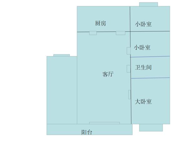 汇迁A区三室两厅一卫107平米住宅出售